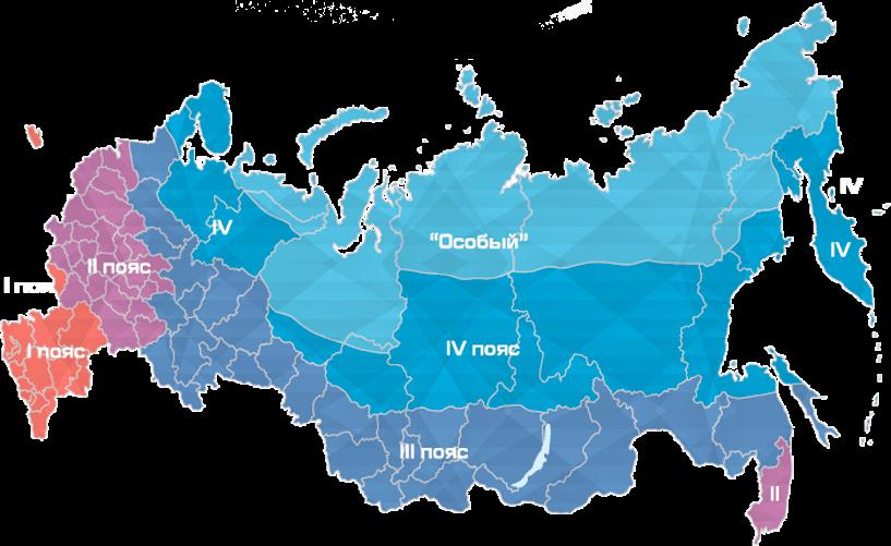 карта климатических поясов россии